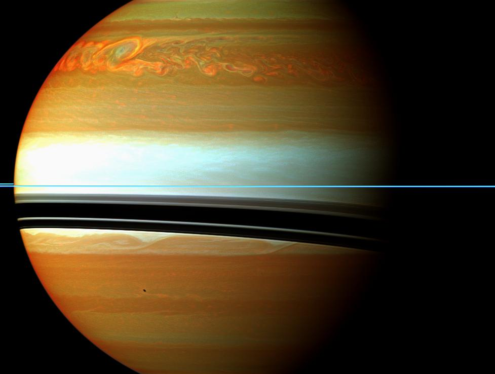 A Raging Storm System on Saturn